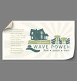 renewable energy from wave power templates vector image vector image