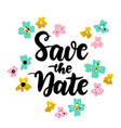 save date lettering postcard vector image vector image