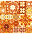 Seamless patchwork background Oriental ornament vector image vector image