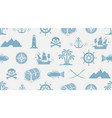 seamless pattern on theme pirate vector image vector image