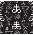 seamless pattern with occult symbols vector image