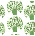 seamless tree pattern on white vector image vector image