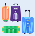 Set of bags with wheels vector image vector image