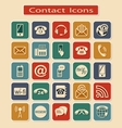 Set of Contact Icons vector image vector image