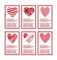 set of velentines card vector image