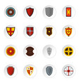 shield frames set flat icons vector image vector image
