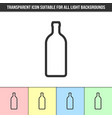 simple outline transparent bottle icon on vector image