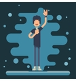 Singer performer soloist Icon Hard Rock Heavy Folk vector image vector image