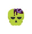 skull zombie trick or treat happy halloween vector image