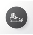 sled icon symbol premium quality isolated sleigh vector image vector image