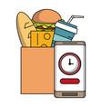 supermarket food delivery online vector image vector image
