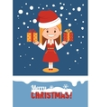 Template of holiday card Merry Christmas card vector image vector image