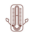 termometer measure kawaii character vector image vector image
