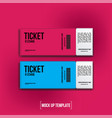 ticket realistic mock up vector image