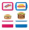 tray salver set empty plastic rectangular vector image vector image