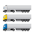 truck set isolated vector image vector image