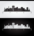 utica usa skyline and landmarks silhouette vector image vector image