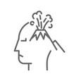 volcano on human head vector image vector image