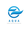 water waves logo design aqua concept sign vector image