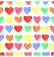 Watercolor colored hearts seamless patternBaby