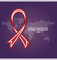 world cancer day-12 vector image