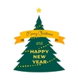 xmas tree icon cartoon flat style vector image vector image
