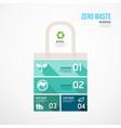 zero waste environmental jigsaw infographic go vector image