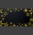 merry christmas and happy new year gold vector image