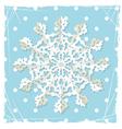 Christmas origami snowflake vector image