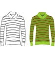 Long Sleeve Striped Sweaters vector image