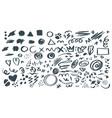 abstract hand drawn symbols set vector image