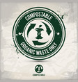 alternative compostable waste stamp vector image vector image