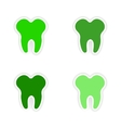 assembly realistic sticker design on paper teeth vector image vector image