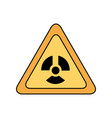 atomic caution signal icon vector image