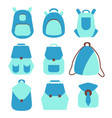 backpack rucksack set vector image
