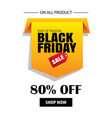 black friday sale flyer template white background vector image vector image