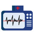 blue color electrocardiogram with normal ecg or vector image