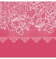 Blue lace flowers horizontal seamless pattern vector image vector image