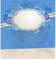 Blue vintage ragged paper background vector image vector image