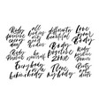 body positive quotes handwritten calligraphy set vector image
