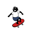 Boy Playing Skateboard vector image