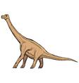 brachiosaurus vector image vector image