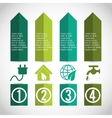 Business infographic with icons vector image