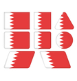buttons with flag of Bahrain vector image vector image