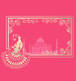 card with indian ornament vector image