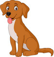 cartoon dog isolated on white background vector image vector image