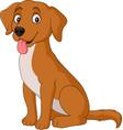 cartoon dog isolated on white background vector image