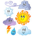 cartoon weather images vector image vector image