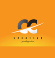 cc c c letter modern logo design with yellow vector image vector image