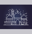 creative of a mosque in line style vector image vector image